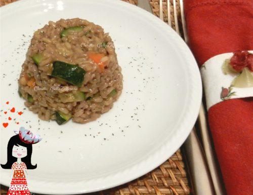 Risotto integrale alle verdure aromatizzate, Ricette risotto