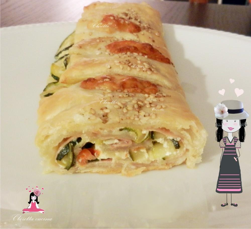 Rotolo pasta sfoglia mortadella zucchine rotolo pasta for Pasta ricette
