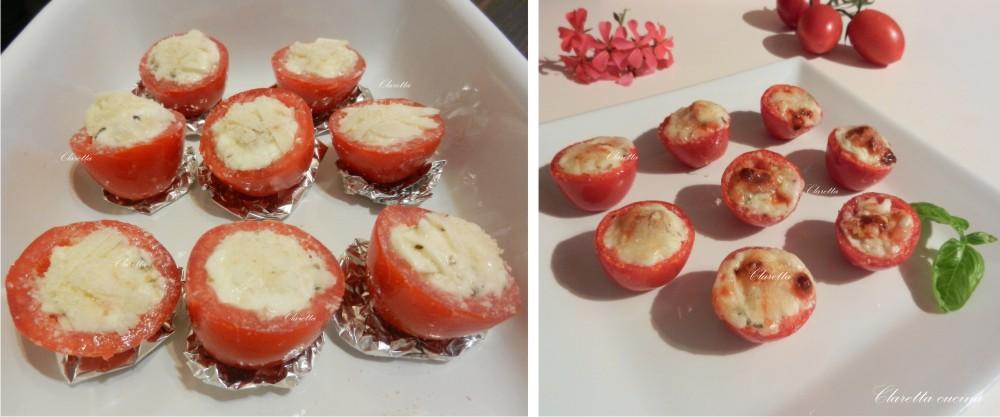 Pomodorini ripieni cotti al forno, Ricetta finger food