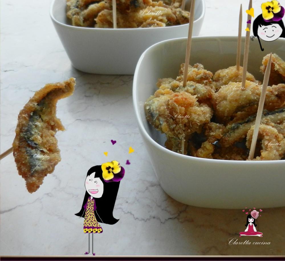 Sardelle fritte, Finger food di pesce, Claretta Cucina