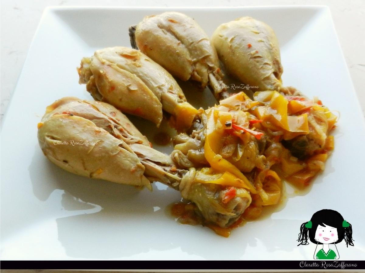 Cosce di pollo ai peperoni, Ricetta light