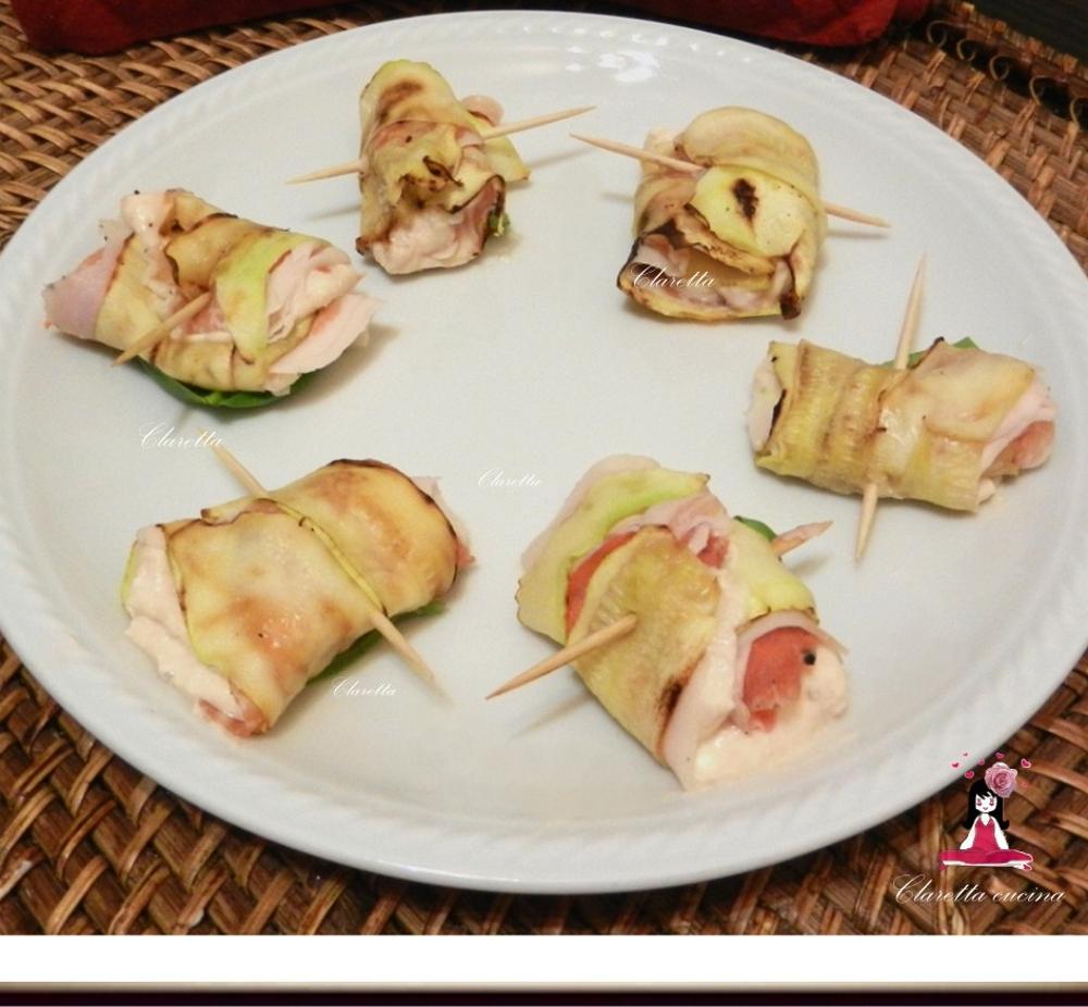 Involtini di zucchine, Ricetta finger food