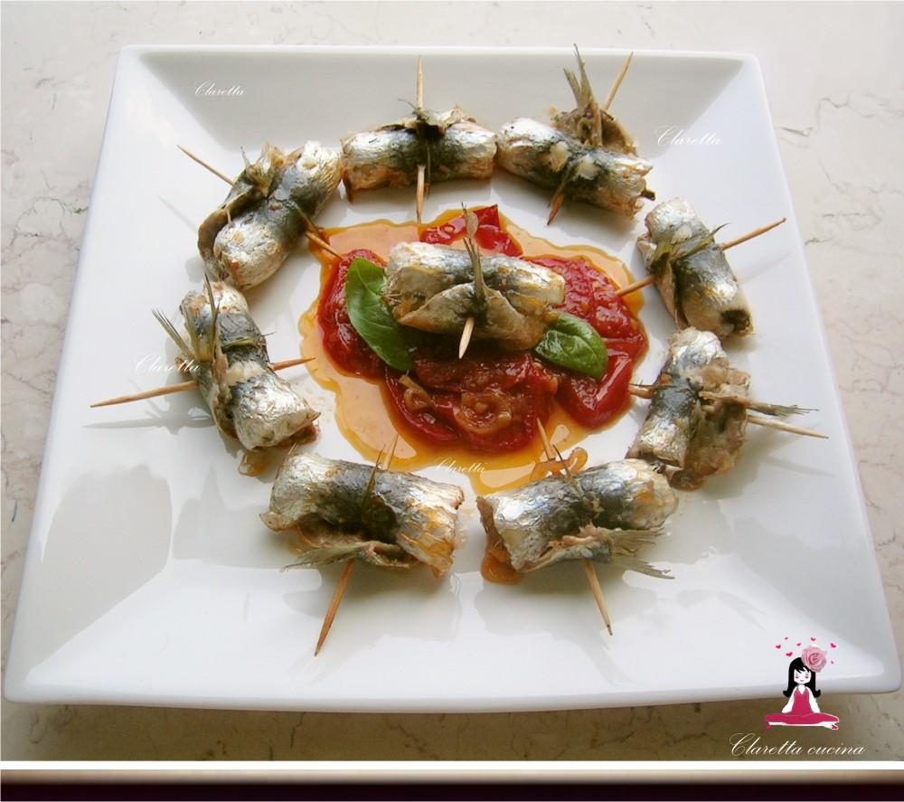 Involtini di sarde in umido, Ricetta di pesce