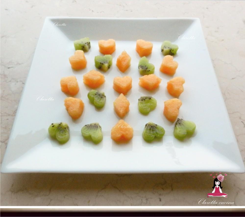 Melone e kiwi, Food decoration