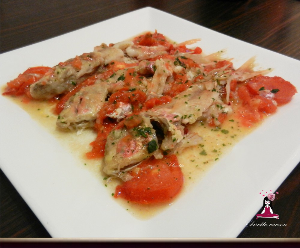 Triglie alla livornese secondo piatto di pesce triglie for Secondi piatti di pesce