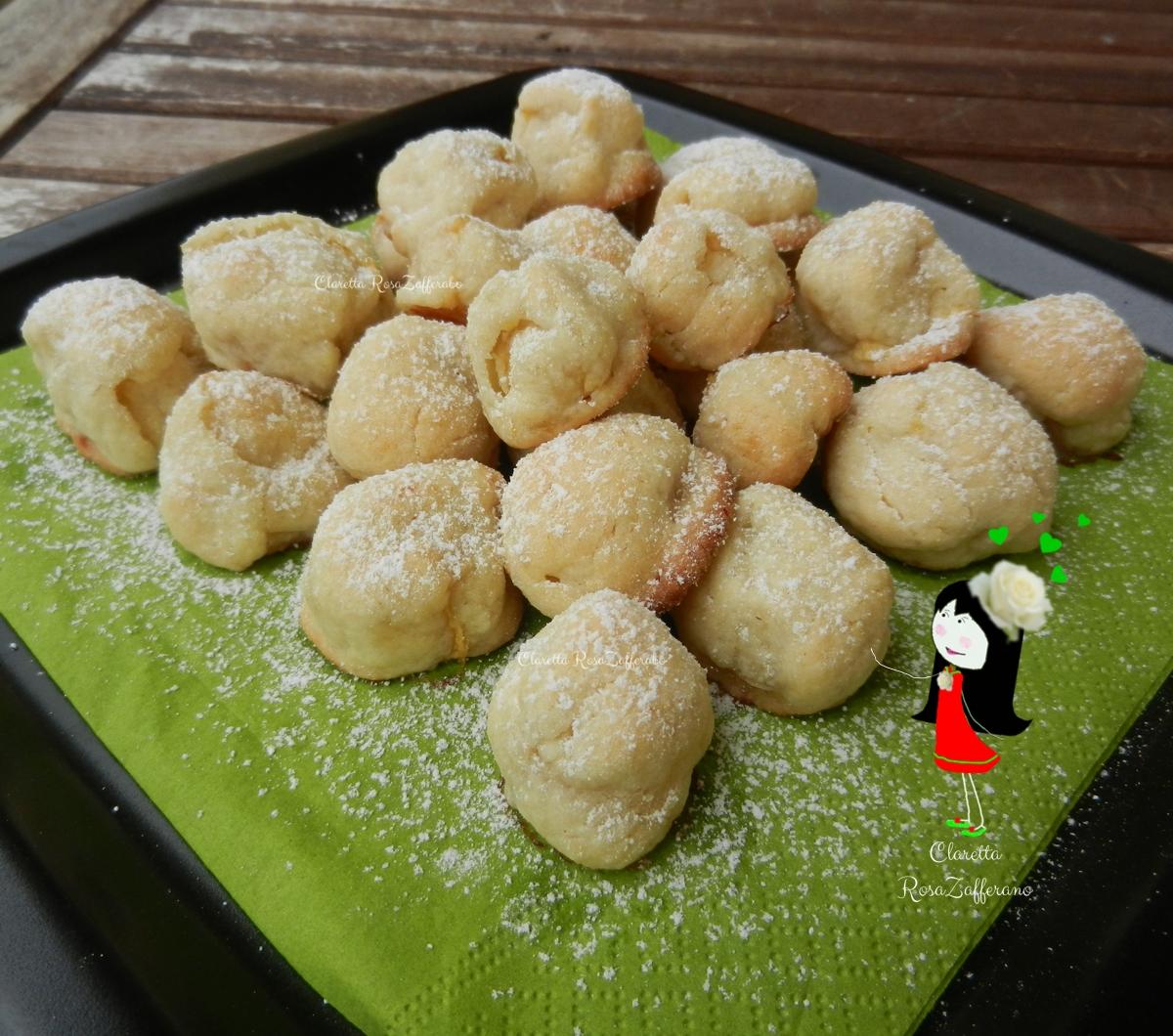 Dolcetti di frolla con cuore di mela, Ricetta dolce, Claretta, RosaZafferano