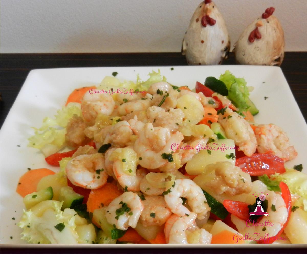Insalata con gamberetti, Ricetta di pesce, 320.0