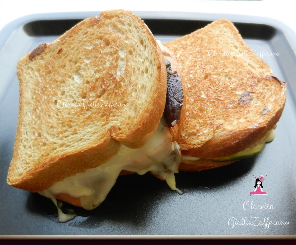 Toast prosciutto fichi e formaggio, Ricetta veloce