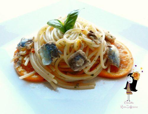 Spaghetti con sarde alla arancia