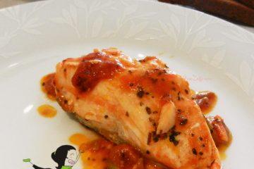 Salmone in padella alle olive