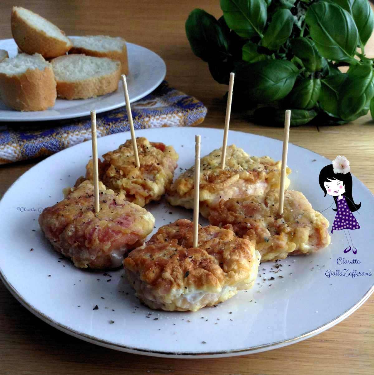 Finger food al prosciutto cotto, Ricetta sfiziosa, Finger food di carne, Claretta GialloZafferano