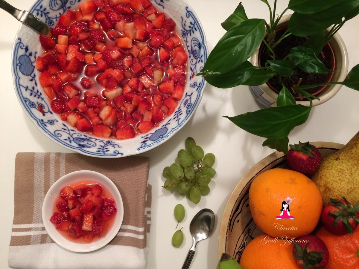 Fragole in coppetta, Ricetta veloce, Fragole all'arancia