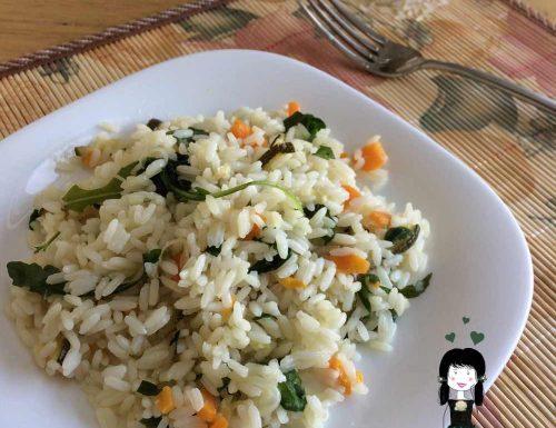 Risotto vegetariano, Ricetta primo piatto veloce, Riso freddo