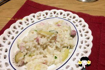 Risotto veloce con zucchine e pancetta