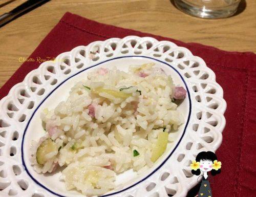 Risotto veloce con zucchine e pancetta, Ricetta golosa