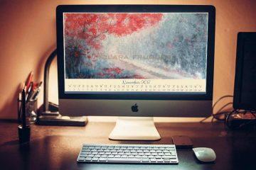 Sfondo desktop calendario novembre 2017