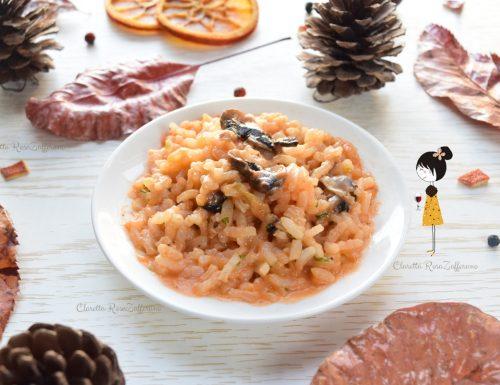 Risotto ai funghi e mozzarella, Ricetta