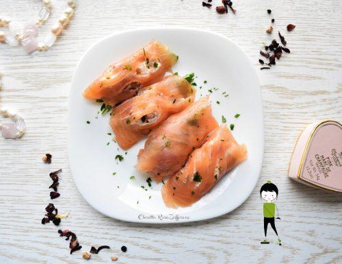 Involtini di salmone affumicato, Ricetta antipasto