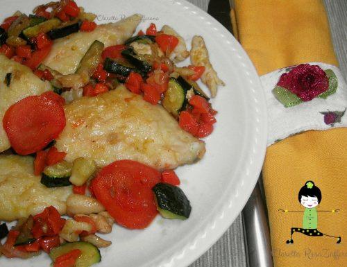 Filetti di Orata in padella con verdure, Ricetta