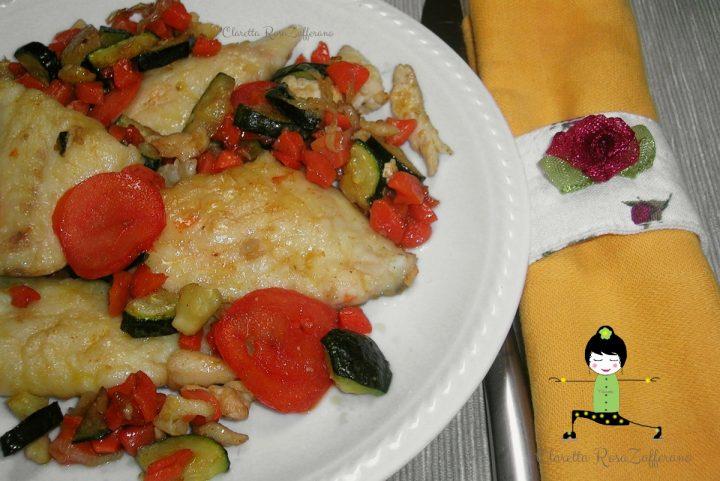 Filetti di Orata con verdure cotte