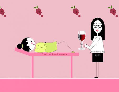 Un bicer de vin, bevilo se vai dalla estetista