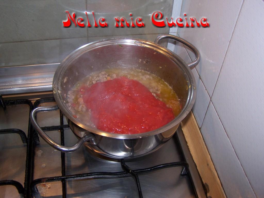aggiungere il pomodoro e gli aromi