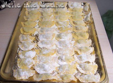 Mezzelune home made ripiene con orata e zucchine