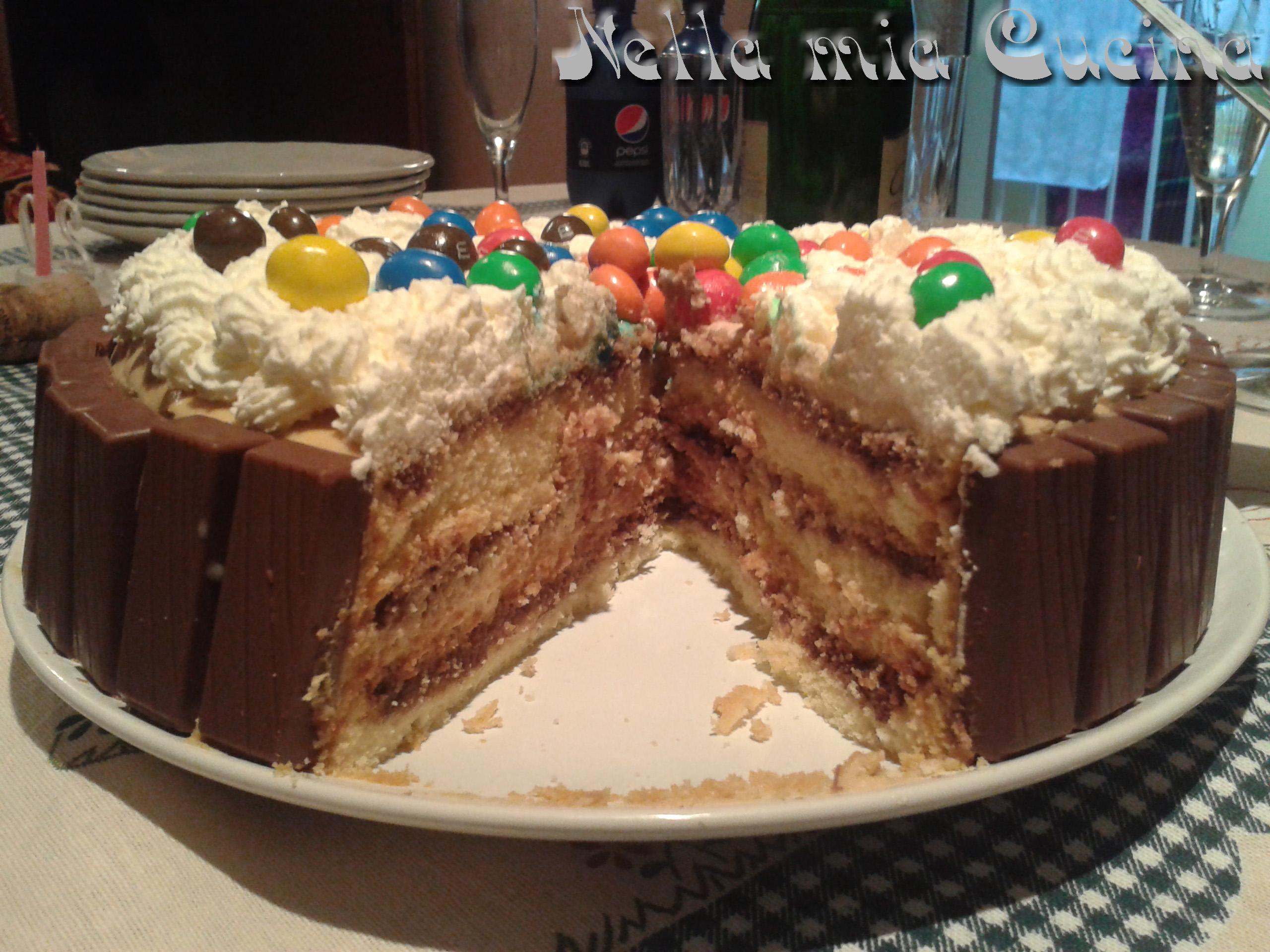 Torta di compleanno ricetta golosa miriam nella mia cucina - Decorare frigorifero ...