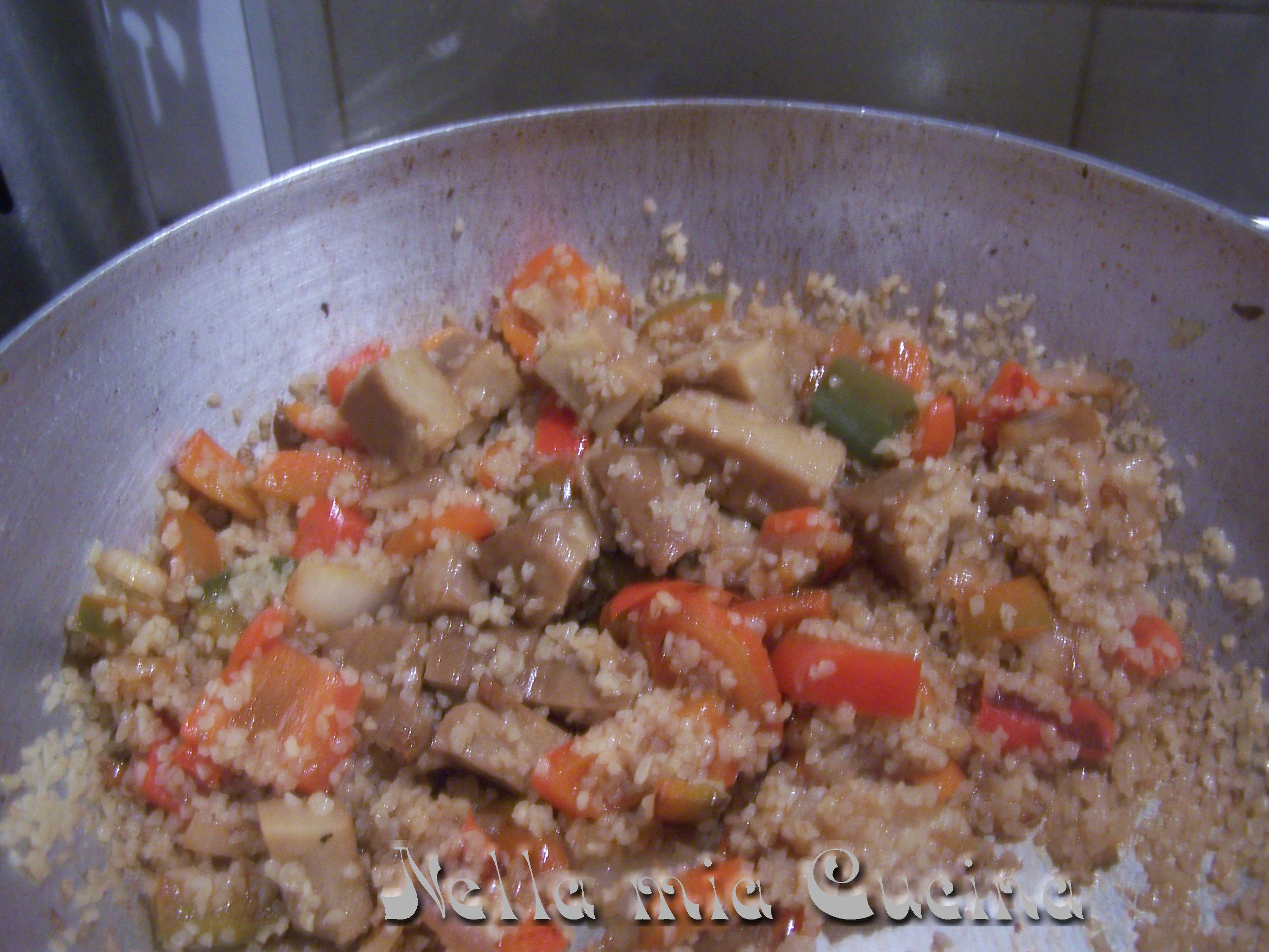 Bulgur con seitan e peperoni - Miriam nella Mia Cucina