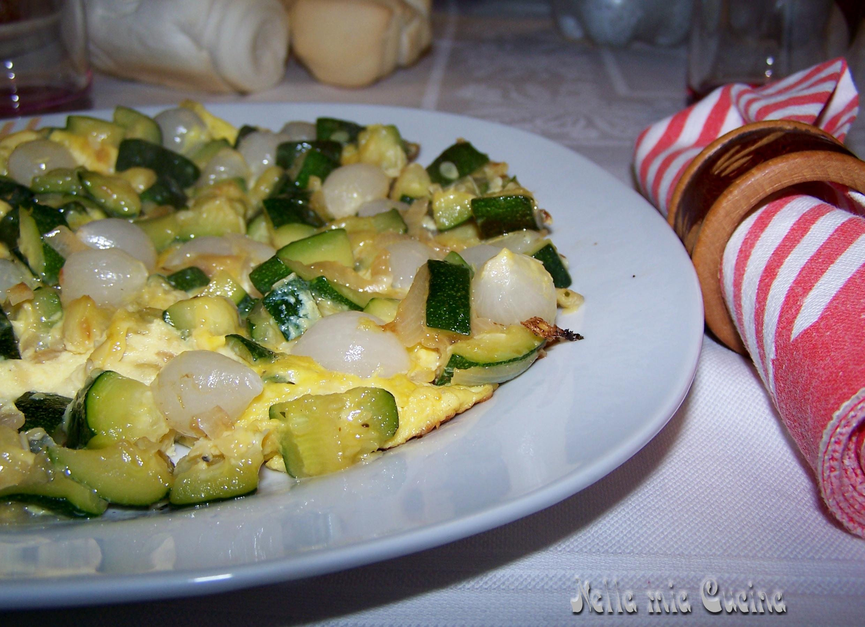 Frittata con zucchine cipolline miriam nella mia cucina for Cucinare per 20 persone