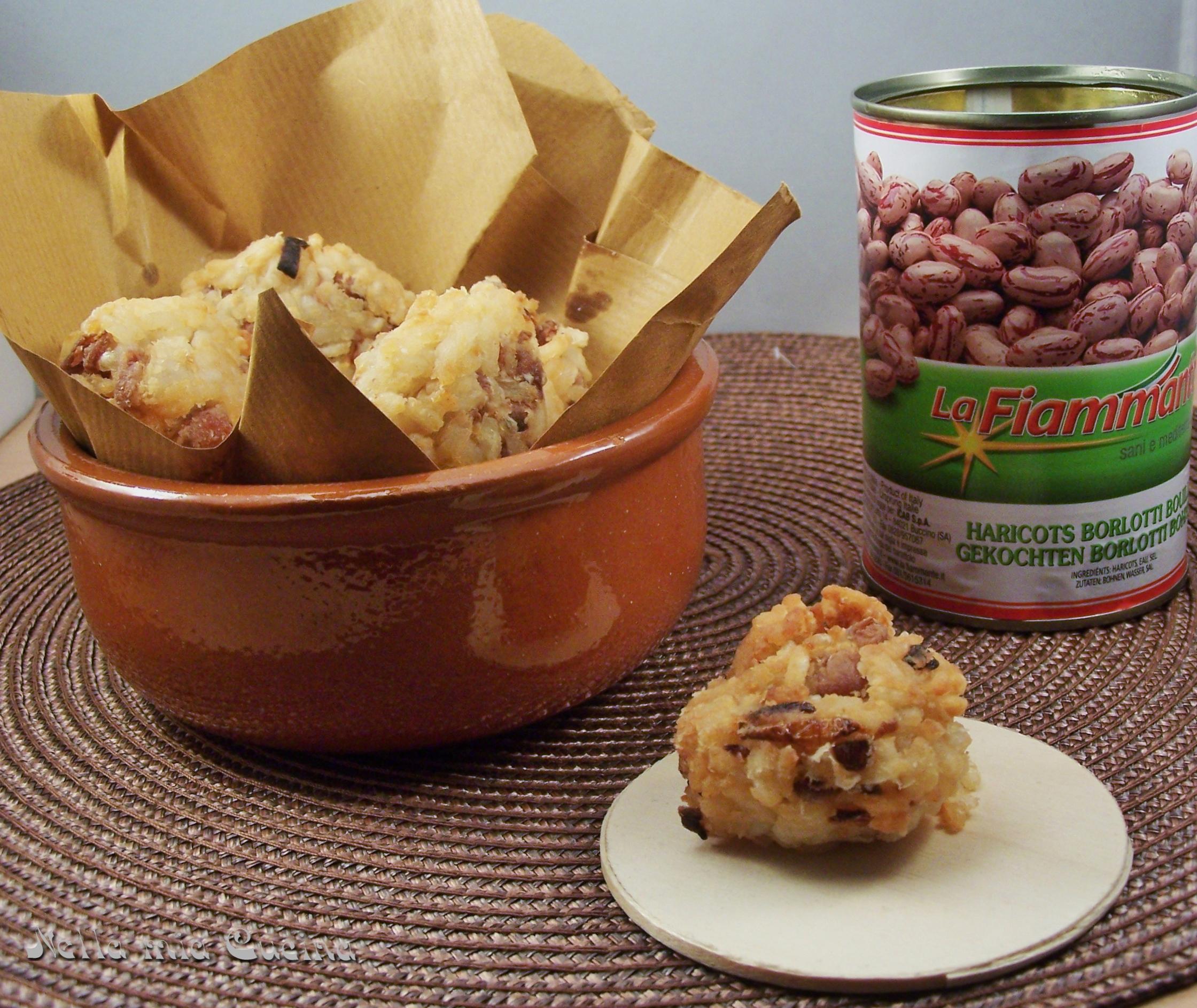 Polpette di riso e fagioli borlotti - Miriam nella Mia Cucina