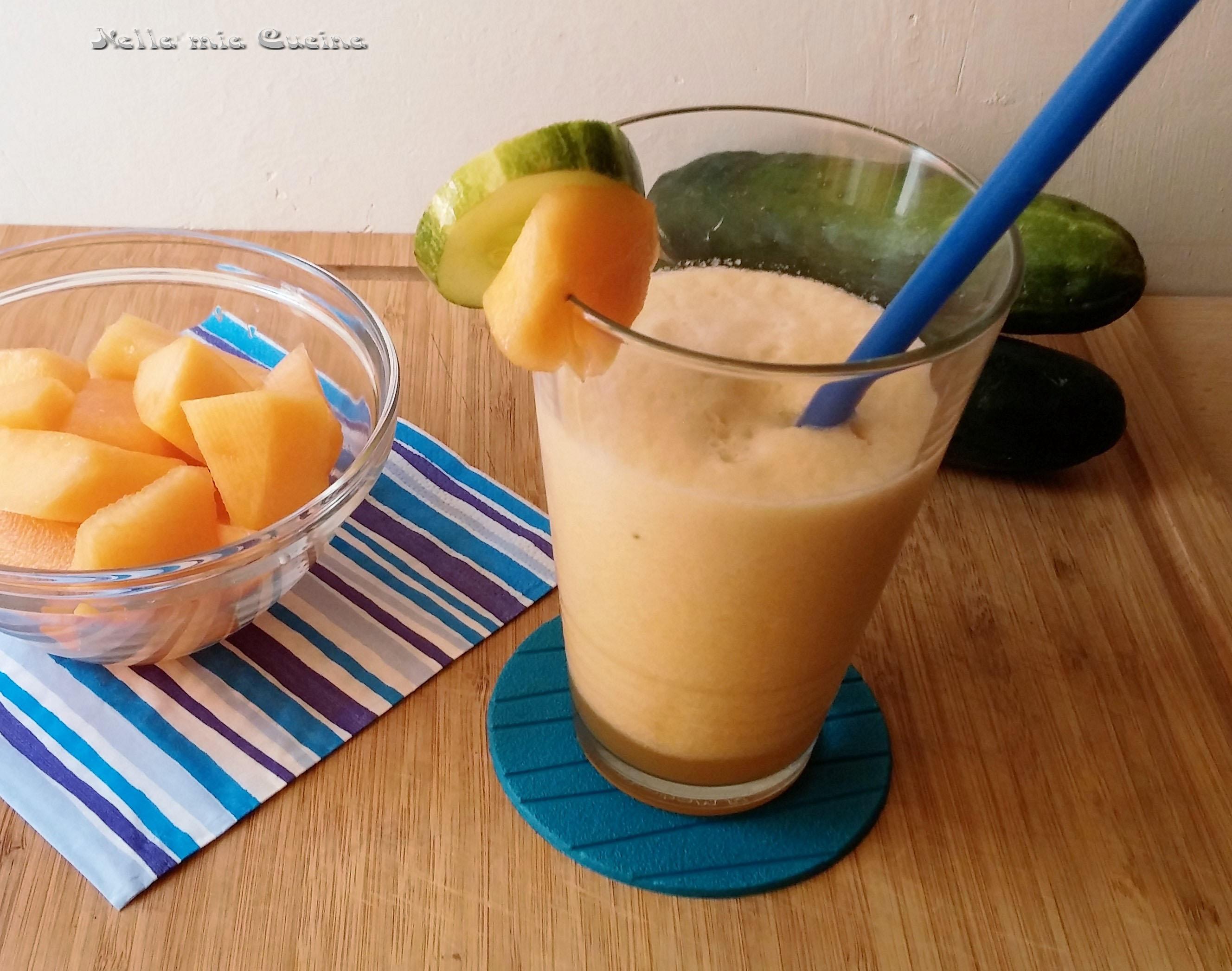frullato melone e cetriolo