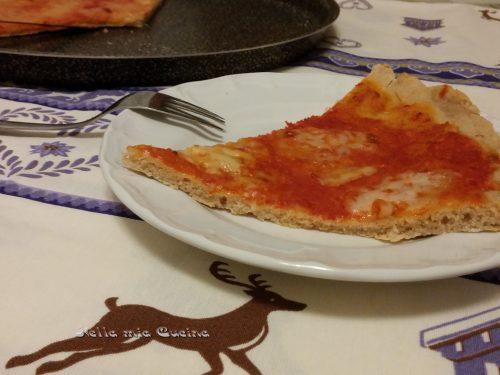 Pizza margherita con farina di avena