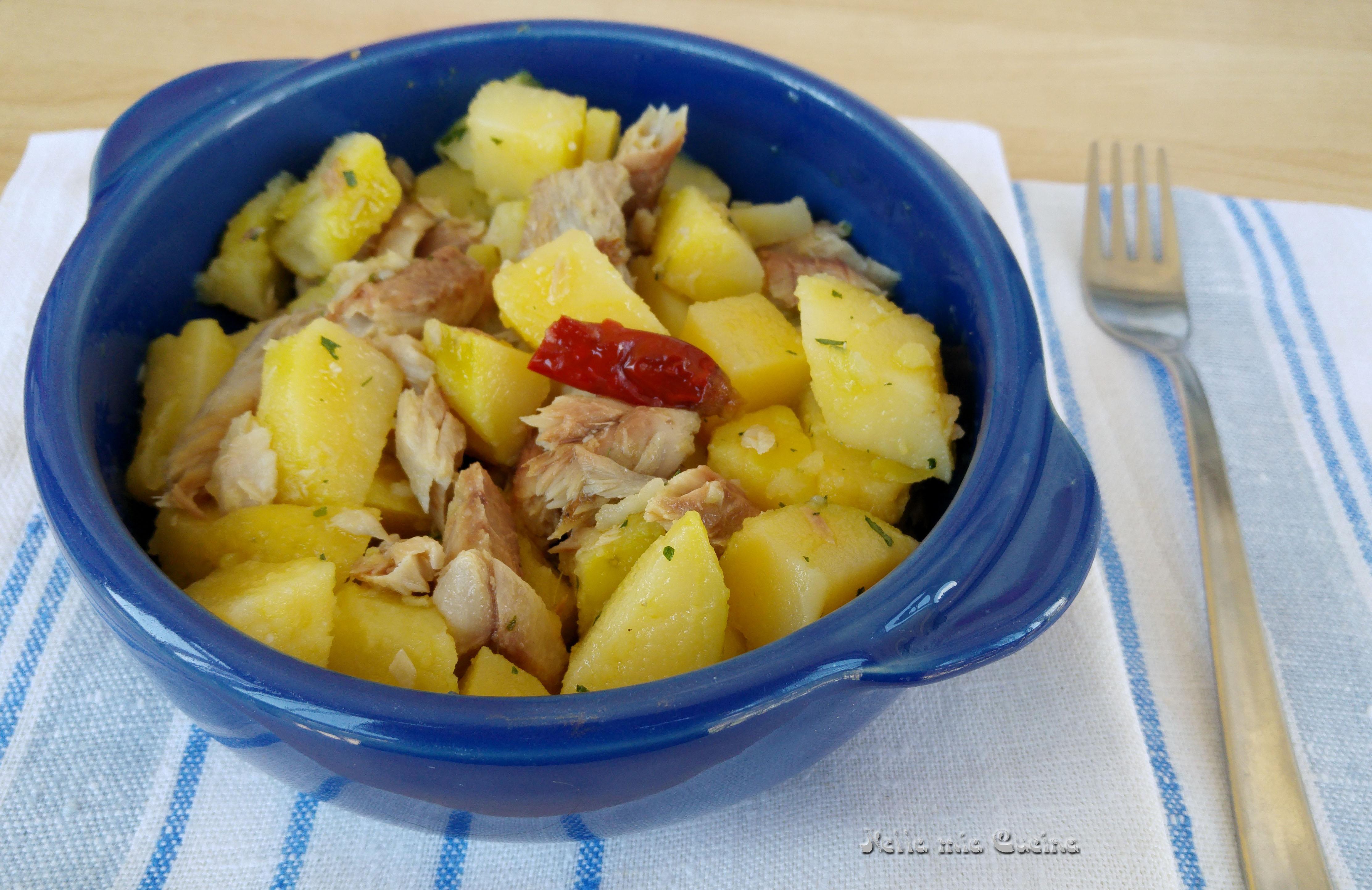 Insalata di patate con sgombro sott 39 olio miriam nella for Cucinare sgombro