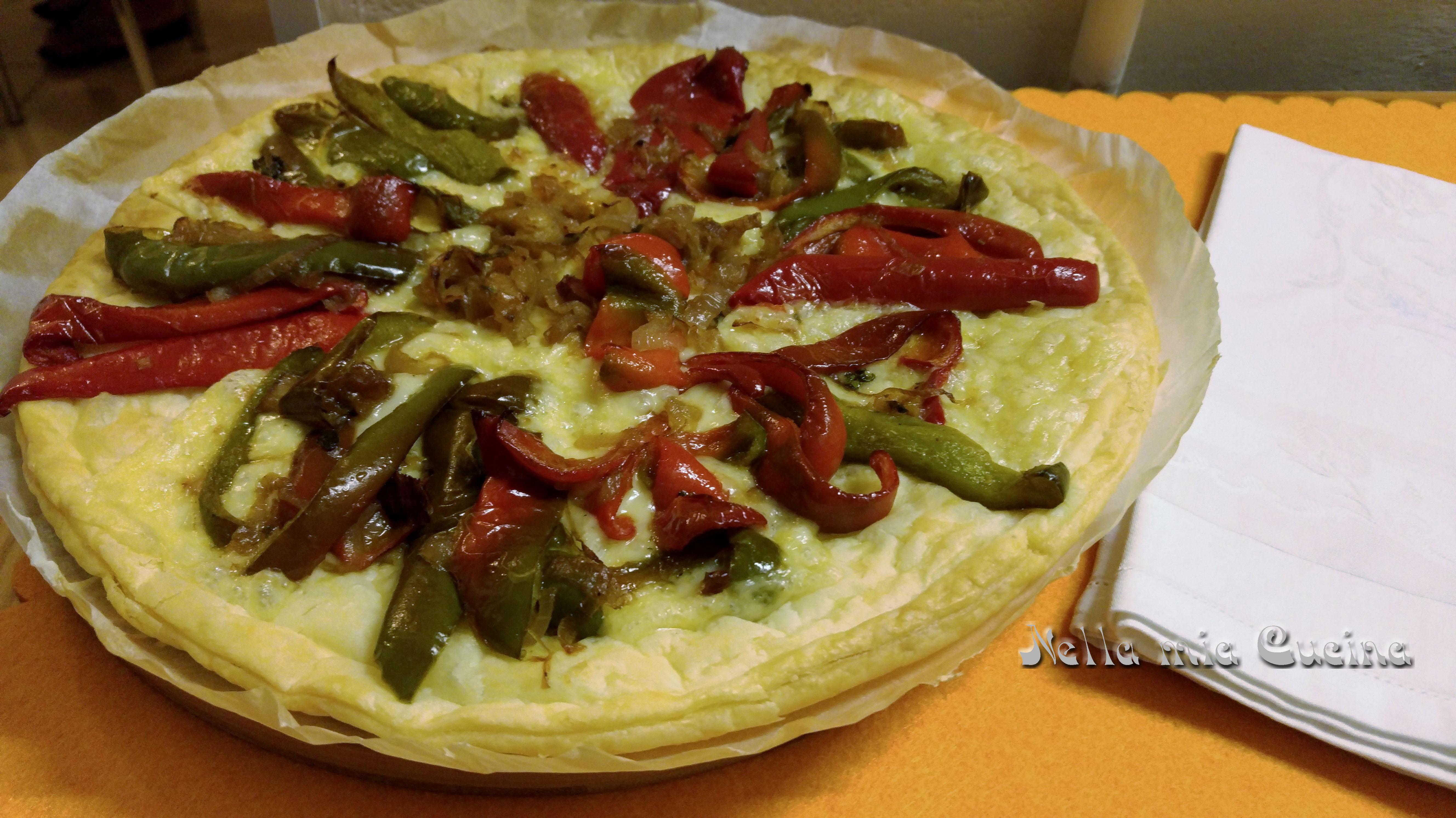 Torta salata con Peperoni e Formaggio Emmental