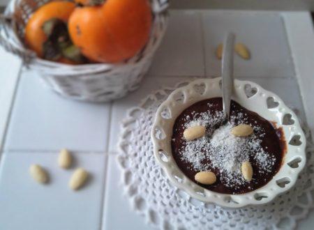 Budino di cachi al cacao