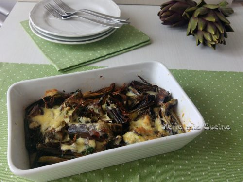 Carciofi e Uova  al forno – ricetta vegetariana