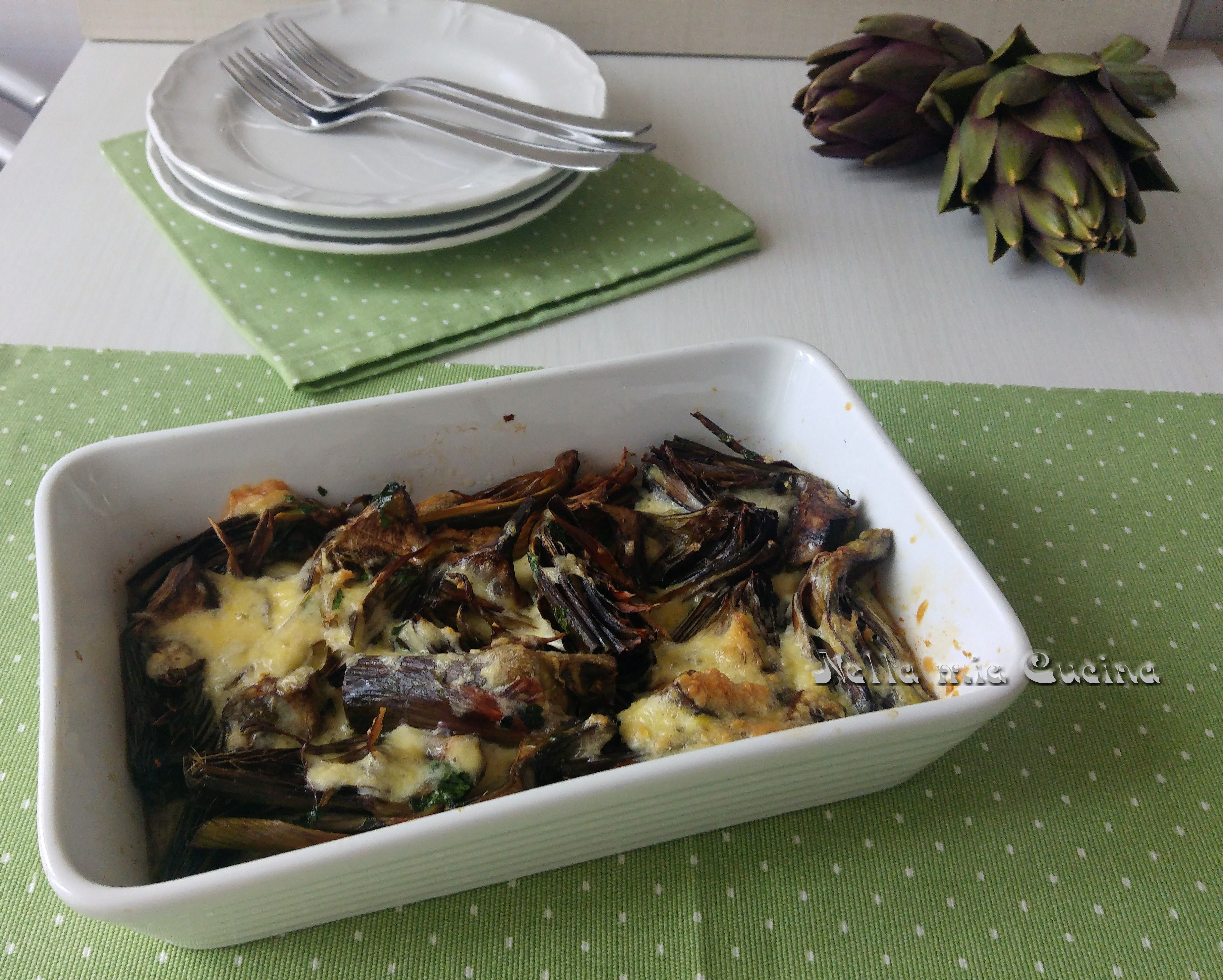 Carciofi e Uova  al forno - ricetta vegetariana