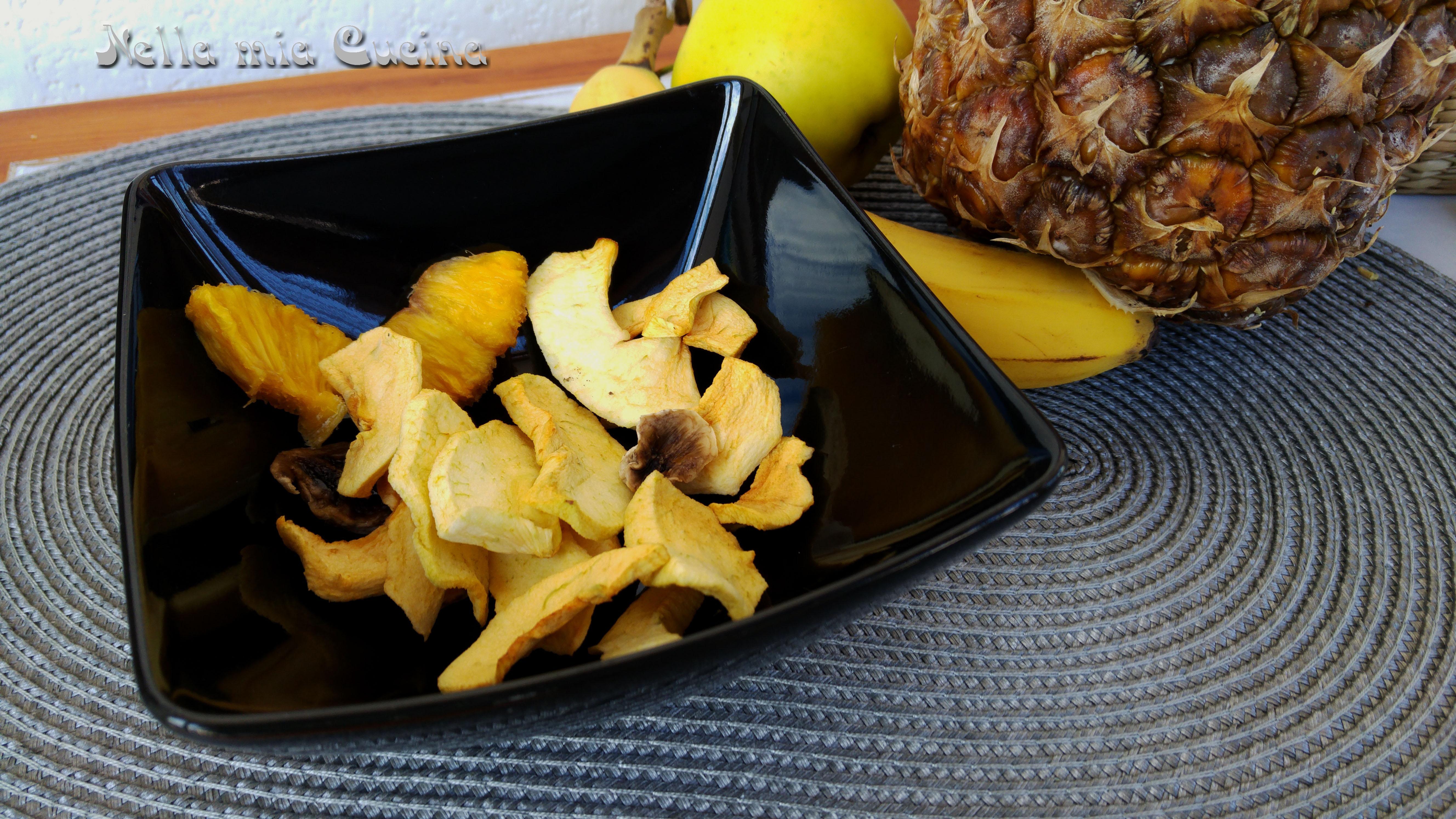 Frutta Disidratata con l'essicatore
