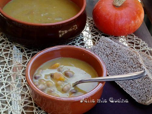 Zuppa di fagioli borlotti  e zucca