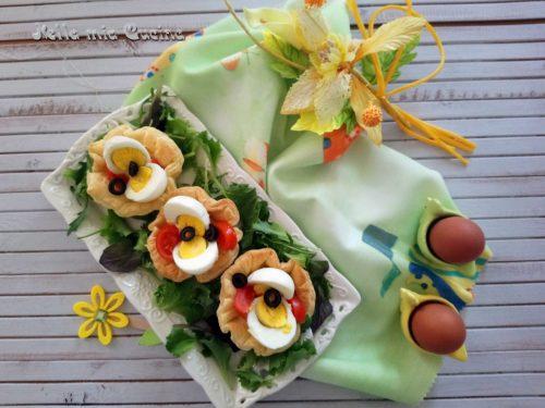 Cestini di sfoglia con uova sode