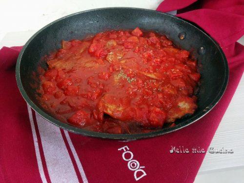 Bistecca di Scottona al sugo di pomodoro