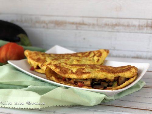 Omelette ripiene di verdure