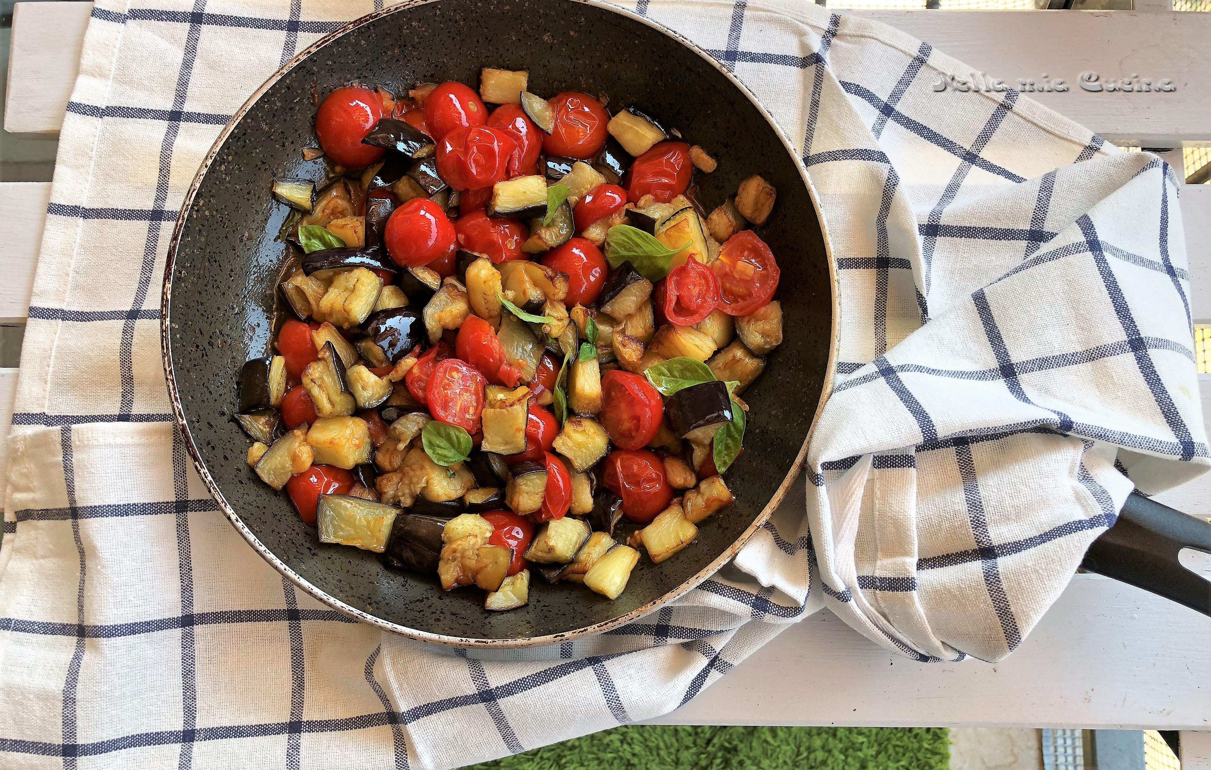 Sugo di Melanzane con Pomodorini e Basilico
