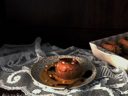 Mele cotte in crema di zabaione
