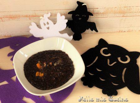 Risotto nero e giallo ricette per Halloween