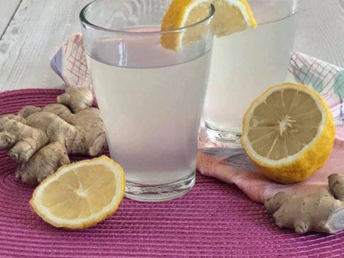 Acqua Aromatizzata allo Zenzero e Limone