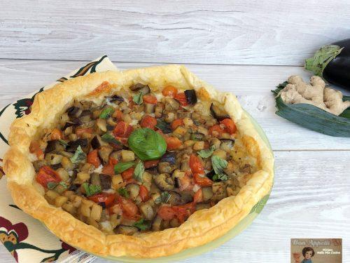 Torta salata alle verdure e zenzero