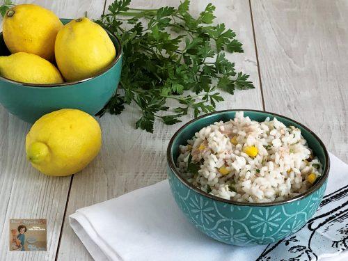 Insalata di riso al tonno e limone