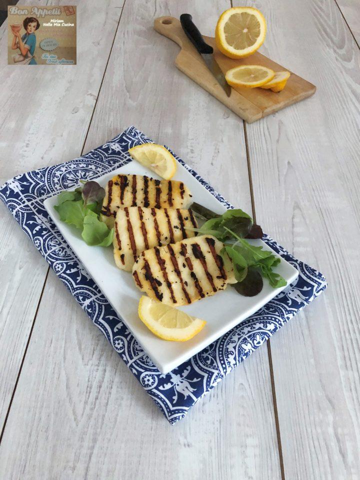 Halloumi alla piastra   (formaggio di Cipro )